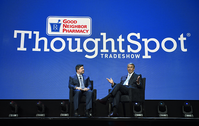 Bob Mauch and John Boehner at ThoughtSpot 2017